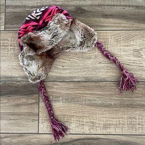 BILLABONG Fur Flap Hat Beanie